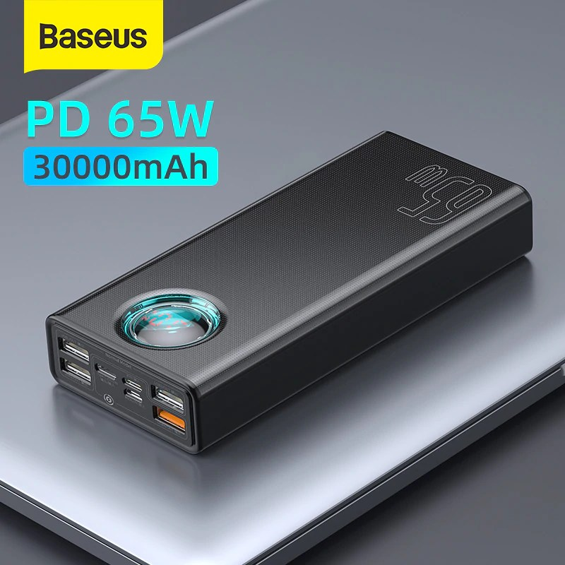 Baseus-33W-65W-Power-Bank-30000mAh-PD-Quick-Charging-FCP-SCP-Powerbank-Portable-External-Charger-For